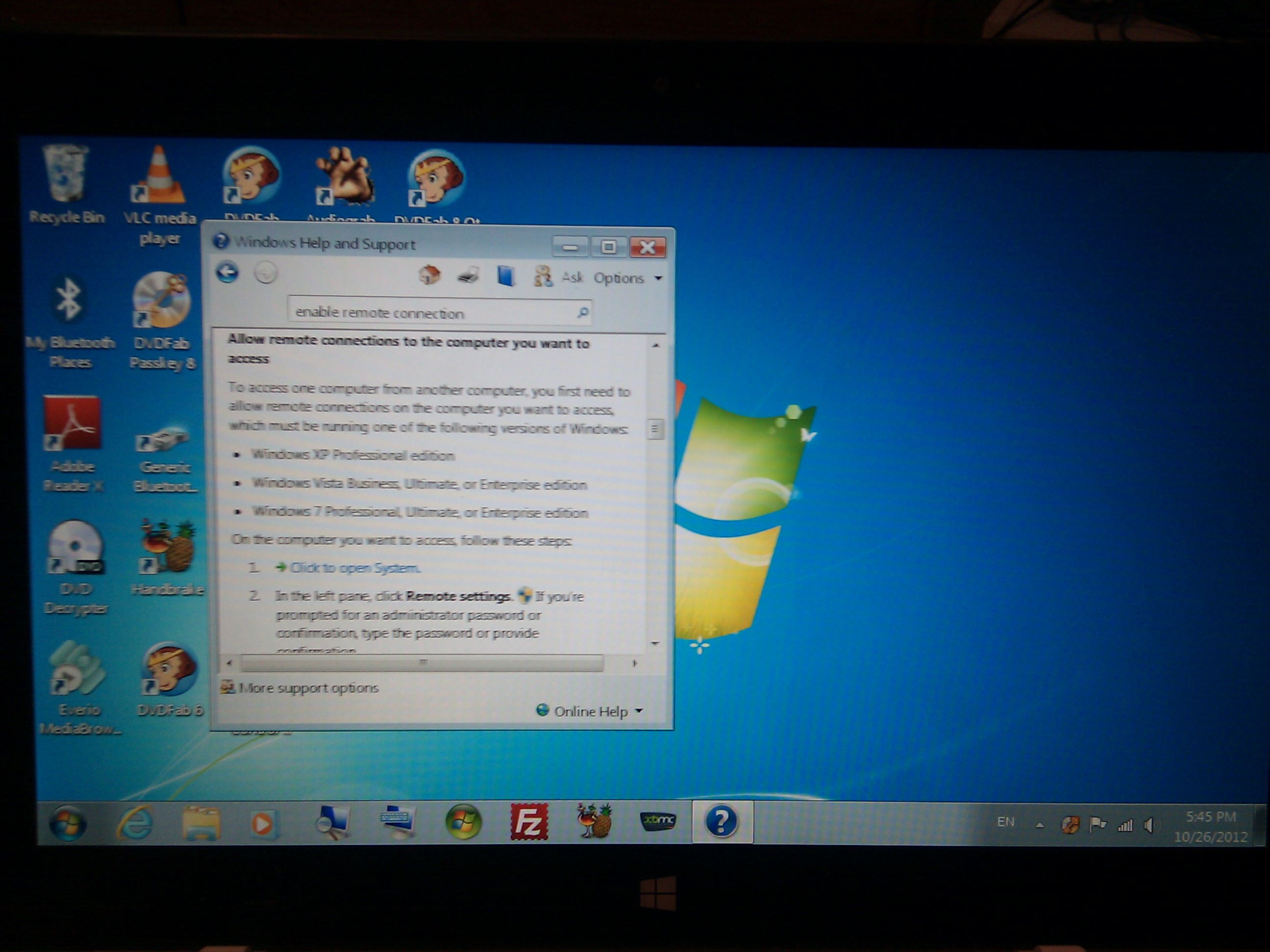 Windows 7 en un Surface RT