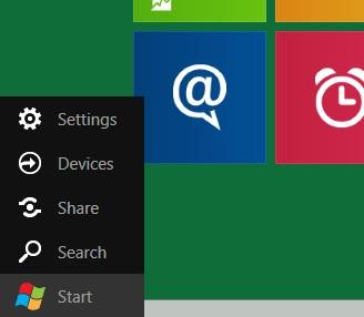 Lo mas cercano al botón de inicio en el nuevo Windows (Developer Preview)
