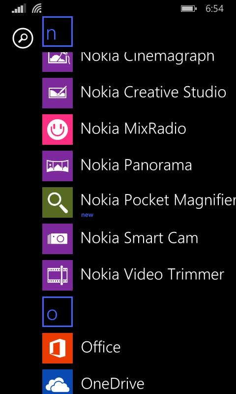 Ahora cuando se instala un App aparece marcada como nueva...