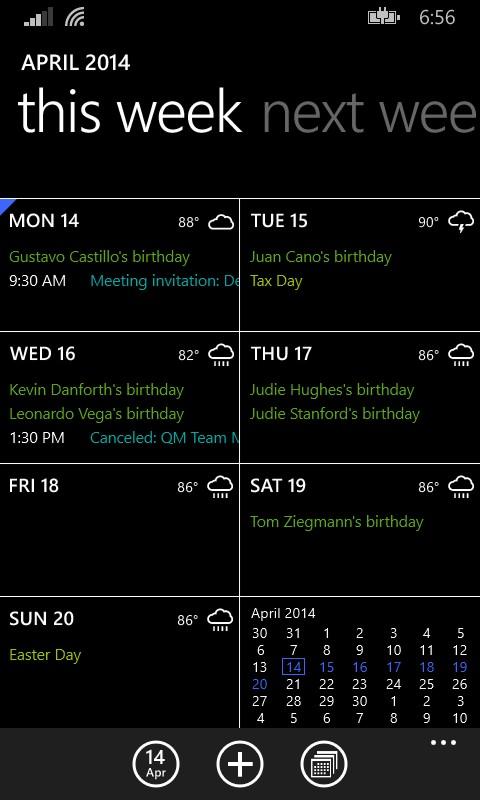 El diseño del calendario también ha cambiado...