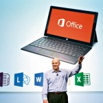 Microsoft CEO Steve Ballmer announces the customer preview of the new Microsoft Office in San Francisco