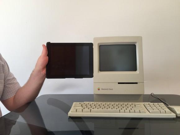 Otra comparativa iPad vs. Macintosh. Misma pantalla. Mismo factor de forma.