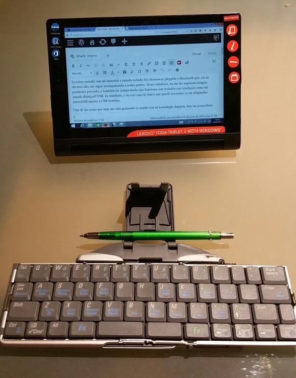 lenovo yoga tablet 2 con iGo Stowaway
