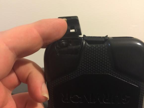 Tapa derecha del botón de bloqueo de rotación